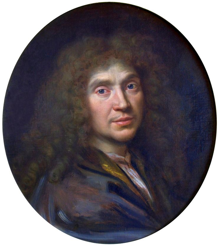 Molière by Pièrre Mignard. Photography: Jebulon, Paris