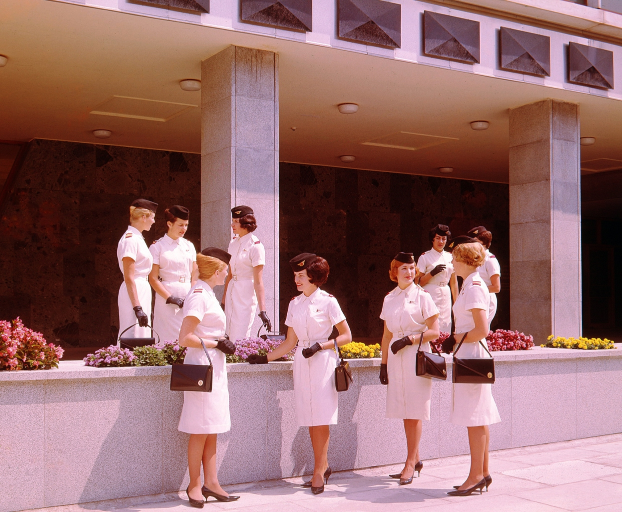 New Zealand, air hostesses from 1959. Courtesy NZ governement archives