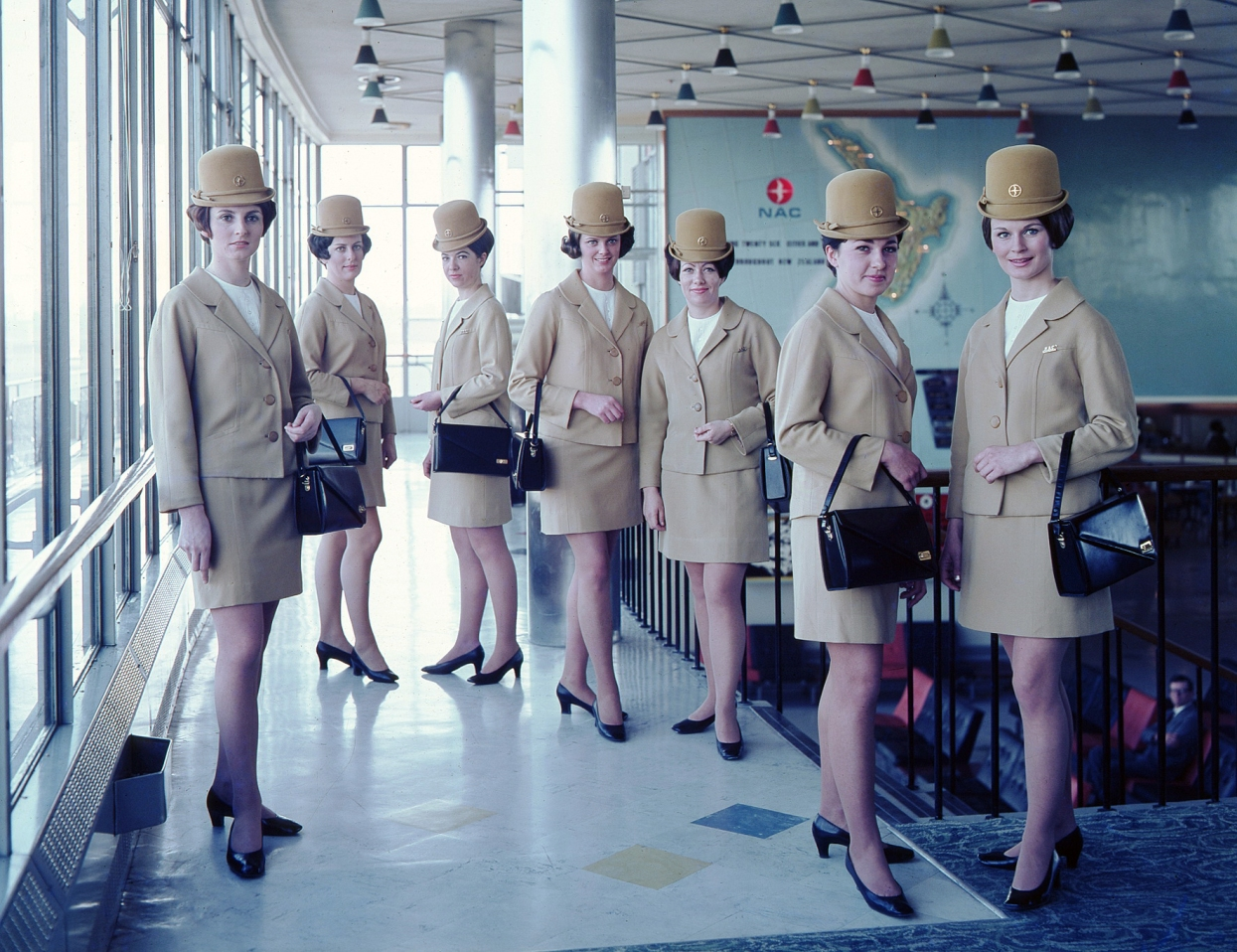 New Zealand, air hostesses from 1965. Courtesy NZ governement archives