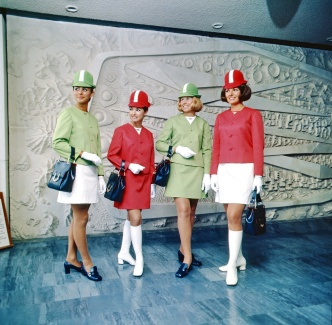 New Zealand, air hostesses from 1970. Courtesy NZ governement archives