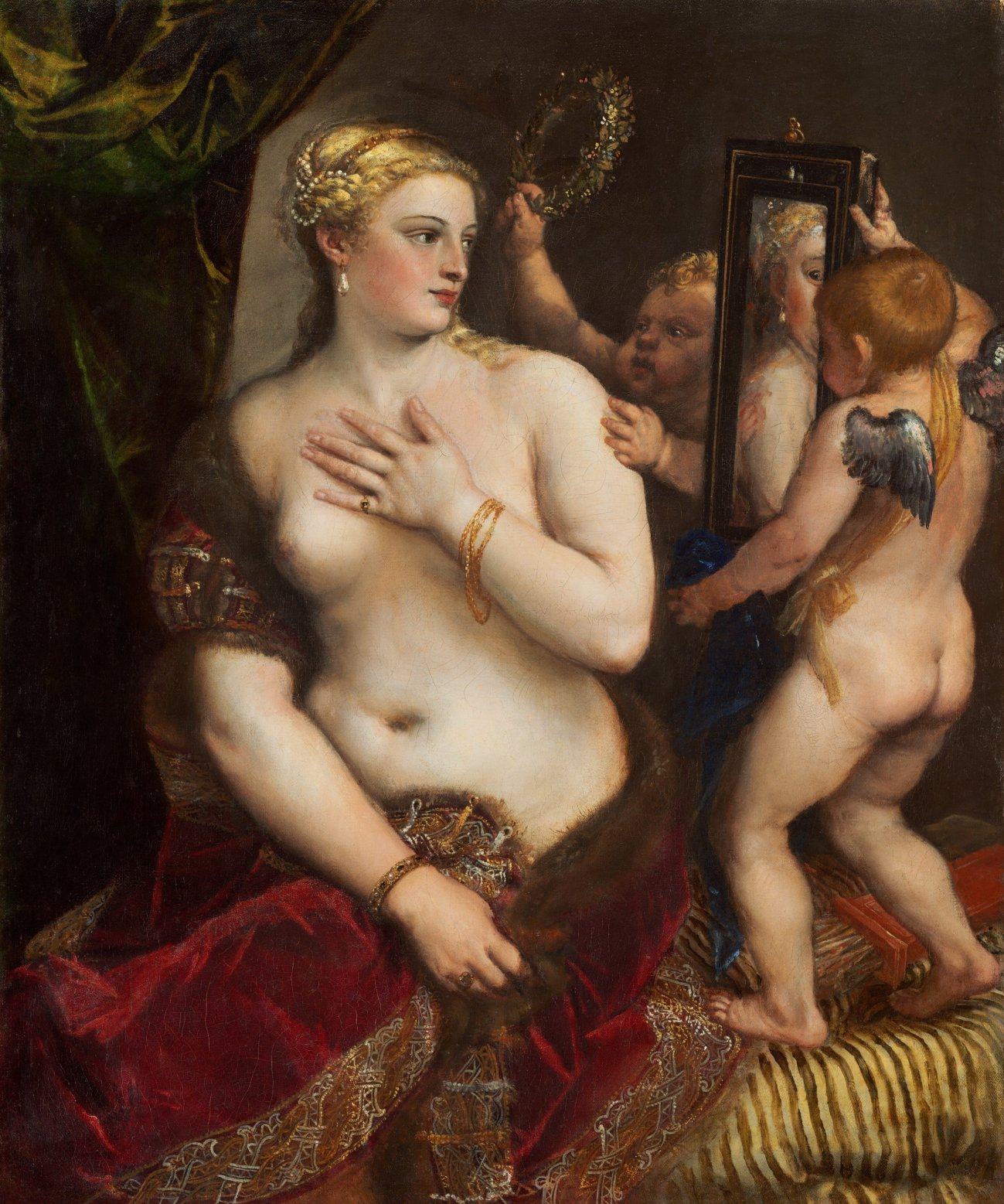 Venus at a mirror. Titian c.1555